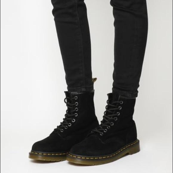 arriving top design details for Dr. Martens 1460 8- Eye Boots Black Velvet